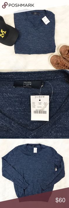 NWT J. Crew 100% Cotton Long Sleeve Light weight sweater, NWT, 100% cotton. Men's size medium. J. Crew Sweaters V-Neck