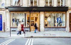 J.Crew Opens Its First Paris Store - Condé Nast Traveler; Rue Malher