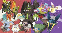 More New Pokemon from Pokemon Sun and Pokemon Moon: Bruxish Charjabug Cutiefly Drampa Komala Rockruff Tapu Koko Togedemaru Vikavolt