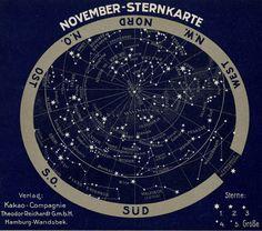 Antique Star Chart November Scorpio