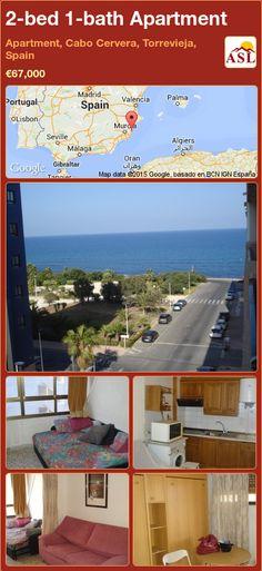 2-bed 1-bath Apartment in Apartment, Cabo Cervera, Torrevieja, Spain ►€67,000 #PropertyForSaleInSpain