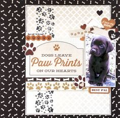 """Paw Prints"" Layout by Amanda Baldwin for Kaisercraft 'Furry Friends' collection ~ Scrapbook Pages 3."