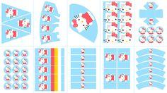 Postreadicción: Galletas decoradas, cupcakes y cakepops: Imprimible gratis: kit de fiesta de Hello Kitty