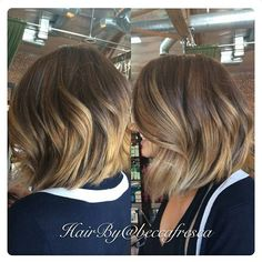 Good balayage for short hair Love Hair, Great Hair, Gorgeous Hair, Blonde Ombre Short Hair, Ombre Hair, Short Ombre, Jlo Short Hair, Short Balayage, Hair Color And Cut