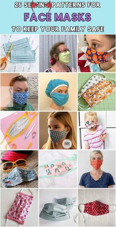diy face mask sewing pattern using hair ties sew face masks homemade - how to sew a face mask without elastic<br> 25 Sewing Patterns for Face Masks to Keep Your Family Safe