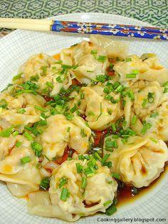 Szechuan Shrimp and Meat Wontons -