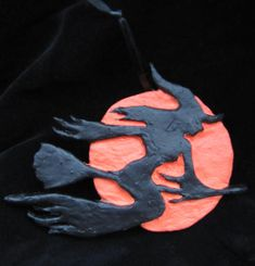 Witch in Flight Halloween Christmas Ornament by ARyerStudio, $10.00