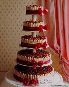 ladyfingers and fresh fruit wedding cake