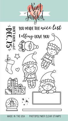 November 2016 Release Day Introducing Elfs and Their Shelf + Scandinavian Prints Christmas + Giveaway! : Neat and Tangled: November 2016 Release Day Introducing Elfs and Their Shelf + Scandinavian Prints Christmas + Giveaway! Christmas Giveaways, Christmas Crafts, Christmas Christmas, Neat And Tangled, Christmas Preparation, Santa's Little Helper, Tampons, Digi Stamps, Copics