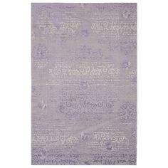 Safavieh Palazzo Transitional Oriental Purple/ Light Grey Area Rug (5' x 8') (PAL129-7973-5), Size 5' x 8'