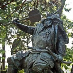 """Takeda Shingen (1521-1573) was a powerful """"Daimyo"""" (regional lord) who ruled Kai (present-day Yamanashi prefecture) and Shinano (present-day Nagano prefecture) provinces. He is one of the most famous Daimyos of the Sengoku period (or Warring States period from mid-15th to early 17th century) along with his rival Uesugi Kenshin (1530-1578) who ruled Echigo province (present-day Niigata prefecture)."""