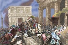 King Alarik I, King of the Visigoths, occupied and plundered Rome,  | The Sack of Rome in 410AD was one of the final nails in the coffin of ...