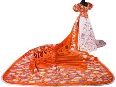 Made from kimono. Court dress of Impress of Japan. Late XIX century. Japonisme. West and East collide :)