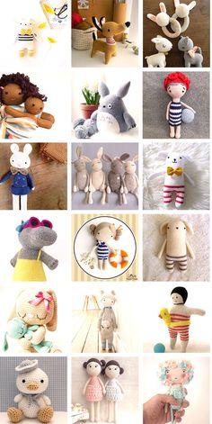 NEW BLOG POST : Aujourd'hui je vous ai préparé une jolie sélection de petits bonhommes faits maison http://sourisdesvilles.fr/diy/couture/selection-de-doudou-faits-main