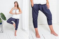 Comfortable and uncomplicated – these casual pants with low crotch are not just … - The Best Lace Dress Trends for 2019 Sew Your Own Clothes, Diy Clothes, Fashion Pants, Girl Fashion, Sewing Pants, Scandinavian Fashion, Pants For Women, Clothes For Women, Red Pants