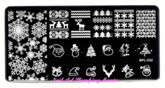 Nail Art Stamping Mania: Born Pretty Christmas/Halloween Set of 5 Plates - Swatches and Review