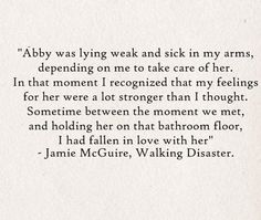 Walking Disaster by Jamie McGuire Abby and Travis