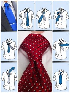 How to tie a tie pratt knot step by step DIY instructions ♥ How to, how to make, step by step, picture tutorials, diy instructions, craft, do it yourself ❤