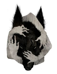 this would be a totally awesome wolf tattoo, its kinda grungy but i really like it
