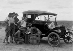 Doughboys purchasing Wells Fargo money orders in Brownsville, Texas, 1917 or 1918.  By noted border photographer Robert Runyon.