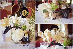 DIY wedding centrepieces / © Blanc Coco Photographe