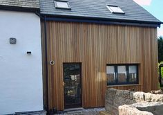 JOS Construction is a leading provider of cedar cladding services in Cork. We supply and construct a variety of cedar cladding structures for clients throughout Cork Wooden Cladding Exterior, Western Red Cedar Cladding, Exterior Siding Colors, House Cladding, Best Exterior Paint, Timber Cladding, Facade House, House With Porch, House Front