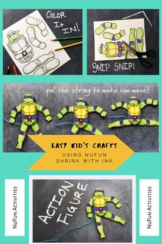 Have your kids create their own toy using NuFun Shrink with Ink!