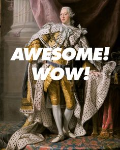 "bill-forrester: "" Allan Ramsay, King George III in Coronation Robes (1765) // Jonathan Groff, What Comes Next? (2015) """