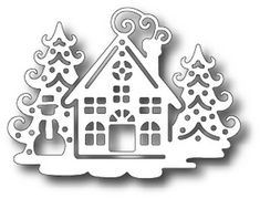 Tutti Designs - Cutting Die - Winter House - New Ideas Christmas Stencils, Christmas Art, Christmas Projects, Christmas Decorations, Xmas, Christmas Ornaments, Diy And Crafts, Paper Crafts, Winter Flowers