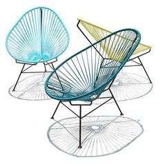 Acapulco Chair by OK Design, a creative work group within the field of art, architecture and design, founded by Jacob Fasting and Kirsten Krogh in 2008. Located in Mexico City and Copenhagen. The Acapulco chair takes its name from the famous Pacific resort. In the 1850s, when the chair first went into production, Acapulco was the Hollywood hot spot. John Wayne, Elvis and the Kennedys lounged on sunny terraces overlooking the Acapulco bay.