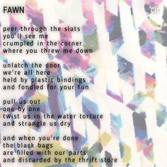Poem Fawn
