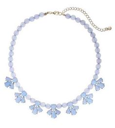 New LC Lauren Conrad Light Blue Statement Necklace | eBay