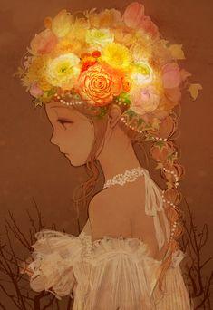 花飾 | romiy [pixiv] http://www.pixiv.net/member_illust.php?mode=medium&illust_id=39116665