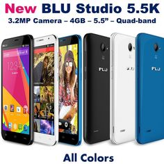 New BLU Studio 5.5K (All Colors) Android 4.4 Dual Sim 5.0 Unlocked Dash GSM D710 in Cell Phones & Accessories, Cell Phones & Smartphones | eBay
