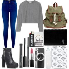 Untitled #9 by loloweed on Polyvore featuring polyvore mode style T By Alexander Wang Miss KG Wet Seal Casetify MAC Cosmetics Seletti Blackbird