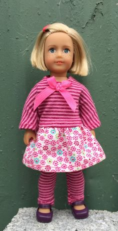 6 mini doll clothes:  mixed print play by GumbieCatDollClothes