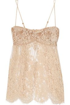 lace camisole.  I appreciate the scalloped lace along the bottom by rosamosario via net-a-porter