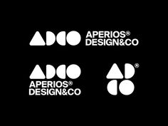 AperiosDesign® Version 2020 by Alex Aperios on Dribbble 2 Logo, Typography Logo, Logo Branding, Lettering, Web Design, Graphic Design, Creative Logo, Modern Logo, Design Reference