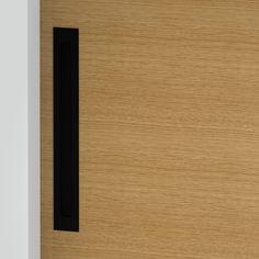 Milos - Flush Pull Handle - 316mm X 42mm - Matte Black (Each) Front Door Handles, Black Door Handles, Black Doors, Matte Black, Bathroom, Washroom, Black Front Doors, Full Bath, Black Door