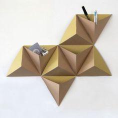 Rangement mural d'inspiration Origami