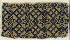 Textile with Stars and Swastika Date: 15th century Culture: German Medium: Silk, wool Accession Number: 09.50.1262