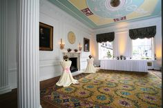 The Robert Adam Room is where it all starts as a married couple. It is ideal to hold your drinks reception here, before the Master of Ceremonies calls guests upstairs to the Duke and Duchess Rooms for the wedding breakfast.  http://www.chandoshouse.co.uk/weddings/our-wedding-rooms/robert-adam-room  #event #venue #wedding #reception