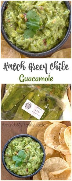 Green chile guacamole is made with Hatch green chiles, ripe avocados, and delicious spices. The perfect spicy guacamole! If you live in the southwest, then you probably look forward to Hatch Chile Season. Hatch Green Chili Recipe, Green Chili Recipes, Hatch Chili, Spicy Guacamole Recipe, Salsa Guacamole, Avocado Recipes, Holy Guacamole, Mexican Dishes, Mexican Food Recipes