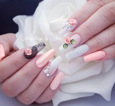 """See our site for even more relevant information on """"top nail art designs It is an outstanding location to find out more. Glam Nails, Bling Nails, Matte Nails, Perfect Nails, Gorgeous Nails, Pretty Nails, French Nails, Wedding Nails Design, Ballerina Nails"""