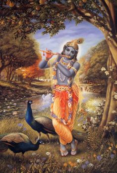 """""""Aakaashaath Patitam Toyam, Yathaa Gachchhati Saagaramh Sarvadeva Namaskaaraanh, Keshavam Pratigachchhati""""  Meaning: Lord Krishna is great. Just as every rain drop that falls from the sky flows into the Ocean, in the same way every prayer offered to any deity flows to Lord Krishna. I bow to such great Lord Krishna."""