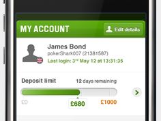My Account with deposit limit by Frank Sedivy
