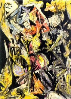 Composition with red triangles by JacksonPollock