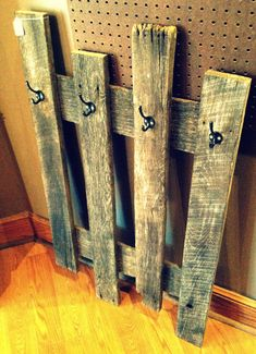 Barn Wood Coat Hanger by CharmingWillows on Etsy, $65.00