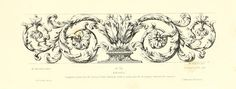 Vintage Ephemera: Engraving; French Floral Flourish, 1880