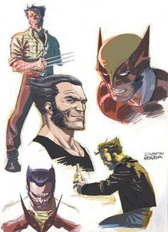 """"""" In this interview for Edge of Spider-Verse I mention having briefly spoken with Marvel about possibly doing a Wolverine story. These were the sketches that were. Comic Book Characters, Marvel Characters, Comic Character, Comic Books Art, Hq Marvel, Marvel Comics Art, Marvel Heroes, Captain Marvel, Wolverine Art"""